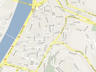 Plan du centre ville de Vienne
