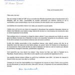 Lettre de de Jean-François Copé