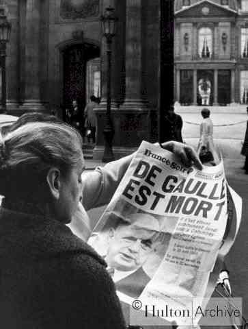 De Gaulle est mort