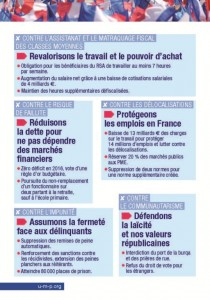 "Tract ""ensemble choisissons la france"" Page 2"