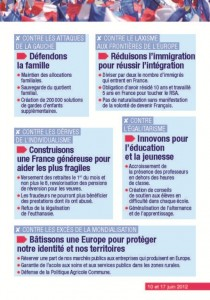 "Tract ""ensemble choisissons la france"" Page 3"