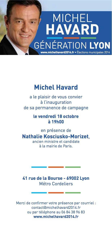 invitation inauguration permanence campagne michel havard - nkm
