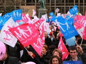 Strasbourg manifestation contre le mariage pour tous
