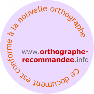 Orthographe recommandée